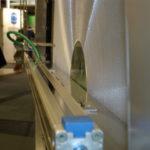 Récupérateurs exposé Swissbau - Dispositif de nettoyage automatique